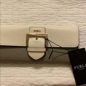 FURLA gray & white NEW wallet - really nice!!